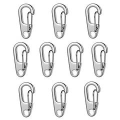 fura d2 Mini llavero de aleación de zinc mosquetón - negro / plata (10pcs)