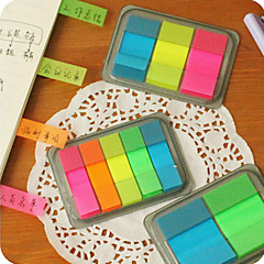 1PC Creative Color Fluorescent Small Post-It Notes Post-It Cartoon Instructions Tag N Times