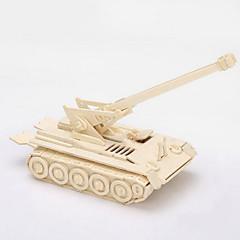 puslespil 3D-puslespil / Træpuslespil Byggesten DIY legetøj Tank Træ Guld Model- og byggelegetøj