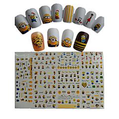 11 stk ny tegneserie dejlig lille gul dukke vandoverførsel nail art klistermærker stz075-085