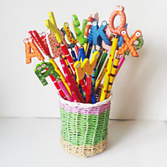 1PC Creative Stationery Cute Cartoon Gift Kindergarten School Supplies Wooden Pencil(Random color)