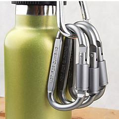 κράμα αλουμινίου δ σχήμα καραμπίνερ βίδα κλειδώματος πόρπη μπουκάλι γάντζο κρέμονται βασικό λουκέτο κάμπινγκ αλυσίδα πεζοπορία