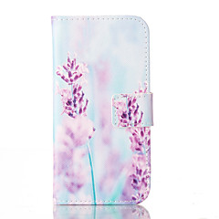 For iPhone 6 Case / iPhone 6 Plus Case Card Holder / with Stand / Flip / Pattern Case Full Body Case Flower Hard PU LeatheriPhone 6s