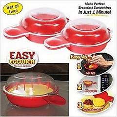 TV에서 본 등 - 쉽게 eggwich 요리 도구 전자 치즈 달걀 밥솥 2 개