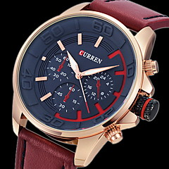 CURREN® Men's Army Design Military Watch Japanese Quartz Leather Strap Cool Watch Unique Watch Fashion Watch