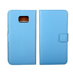 のために Samsung Galaxy ケース カードホルダー / ウォレット / スタンド付き / フリップ ケース フルボディー ケース ソリッドカラー 本革 SamsungS6 edge plus / S6 edge / S6 / S5 Mini / S5 / S4