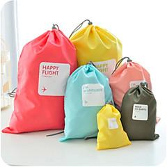 4PCS Reisetasche Organisation für das Packen Schuhtasche Wasserdicht Staubdicht Multi-Funktion für Unisex Kulturtasche Nylon-Gelb Kaffee