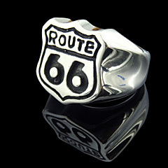 Route 66 Restoring Ancient Ways is Exaggerated Stainless Steel Men's Ring