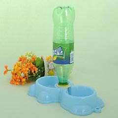 pratico Pet acqua di alimentazione a doppio uso ciotola (colore casuale)