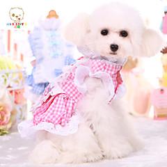 Perros Vestidos Azul / Rosado Verano Flores / Botánica / Houndstooth Boda / Cosplay / Halloween / Cumpleaños / Enrejado / Escocés-Pething®