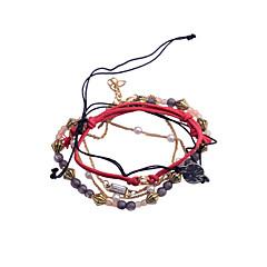 Wrap Armband(Legering / Oäkta pärla,Röd) - tillParty / Dagligen