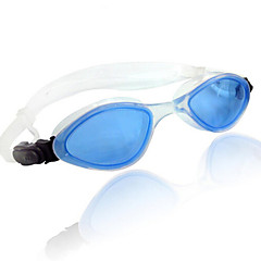 Swimming Goggles Anti-Fog Adjustable Size Silica Gel PC Transparent Black Blue