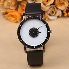 Αντρικά Ρολόι Καρπού Μοναδικό Creative ρολόι Χαλαζίας Δέρμα Μπάντα Μαύρο Λευκή Λευκό Μαύρο Μαύρο/Άσπρο