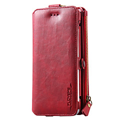 For iPhone 6 Case / iPhone 6 Plus Case Wallet / Card Holder / with Stand Case Full Body Case Solid Color Hard PU LeatheriPhone 6s Plus/6