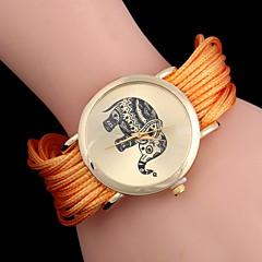 Dames Modieus horloge Kwarts Stof Band Zwart / Wit / Blauw / Rood / Bruin / Groen / Roze / Geel / Meerkleurig Merk-