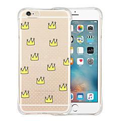 couronne impériale retour silicone étui transparent souple pour iphone 6 / 6s (couleurs assorties)
