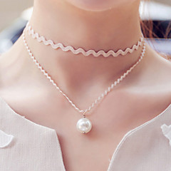 Necklace Choker Necklaces / Gothic Jewelry Jewelry Halloween / Wedding / Party / Daily / Casual Fashion Lace Black 1pc Gift