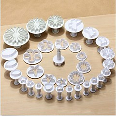 33pcs tort fondant cookie-uri de decorare sugarcraft piston instrumente de tăiere mucegai