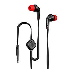 langsdom jd88 drive-by-wire metal kuuloke nappikuulokkeet, mikrofoni äänenvoimakkuuden säätö melua eristävät headset