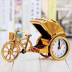 kreativ retro rickshaw alarm desktop dekoration plast vækkeurstilstand