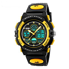 Kids' Sport Watch Quartz Japanese Quartz LCD Calendar Chronograph Water Resistant / Water Proof Dual Time Zones Alarm Rubber Band Black