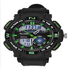 Alike® Men's Dual Time Zone Outdoor Sports Multifunction Wrist Watch Assorted Colors Cool Watch Unique Watch