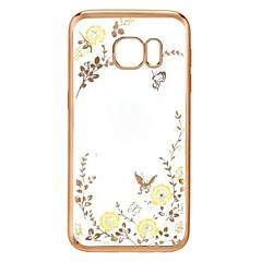 farfalla diamante della copertura TPU del fiore del giardino segreto per la serie Samsung Galaxy s