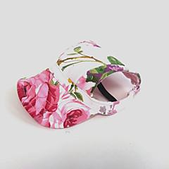 Koty Psy Bandany i kapelusze Różowy Ubrania dla psów Lato Wiosna/jesień Kwiaty Motyw świąteczny