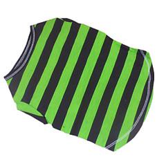 Perros Camiseta Verde Verano Rayas Cebra