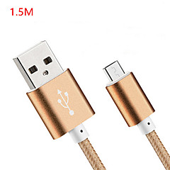 1.5m V8 Micro USB Tenacity Nylon  Data Cable for Samsung and Other Phone (Assorted Colors)