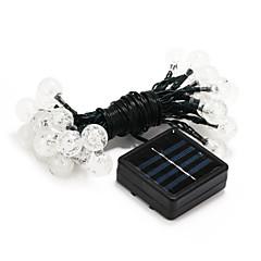 30 dirigé par la lumière blanche solaire puissance de décoration a conduit la lumière de chaîne