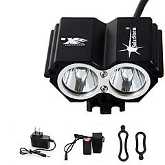 solarstorm 5000 lumen 2x CREE T6 LED frontal luz de la bicicleta de la bici del faro del faro