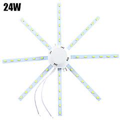1 pcs YWXLIGHT 24W 48 SMD 5730 1920 lm Cool White Decorative LED Ceiling Lights AC 220-240 V