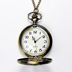 Masculino Mulheres Unissex Relógio de Bolso Gravação Oca Quartzo Lega Banda Dourada