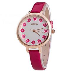 Mulheres Relógio de Moda Quartz Relógio Casual PU Banda Preta / Branco / Vermelho / Rosa / Amarelo marca-