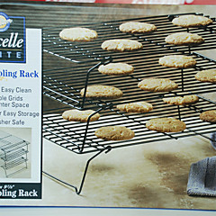 3 Layer Collapsible Cake Cooling Racks Set for Cake Bread Cupcake Baking Tool Nonstick Coated Black Color