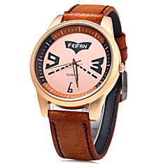 Feifan Brand Fashionable Men Quartz Watch Leather Band Wrist Watch Cool Watch Unique Watch