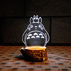 Visual 3D Minions LED Decoration USB Table Lamp Colorful Gift Night Light(Assorted Color)