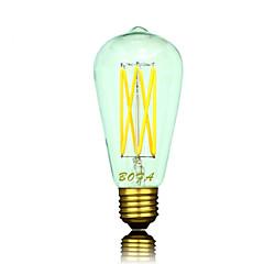 E26 E27 B22  110V 220V ST64 2200K-3000K 300-550lm 5W 6LED Light Bulb Edison