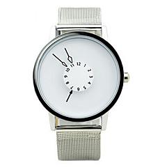 Masculino / Mulheres / Casal Relógio de Moda Quartz Impermeável Lega Banda Preta / Branco marca-