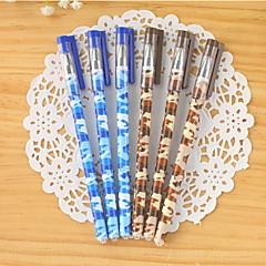 Camouflage Pattern Blue Ink Gel Pen(1 PCS)