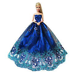 Princess Dresses For Barbie Doll Blue Dresses For Girl's Doll Toy