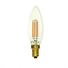 Luces LED en Vela Regulable / Decorativa NO C35 E14 3W 4 COB 200-300 lm Blanco Cálido AC 100-240 / AC 110-130 V 1 pieza