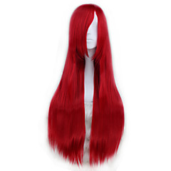 80CM Long Straight Synthetic Anime Cosplay Wig - 15 Colors Available