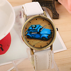 Women's Fashionable Leisure Retro Car Dial Watch Leather Band Cool Watches Unique Watches