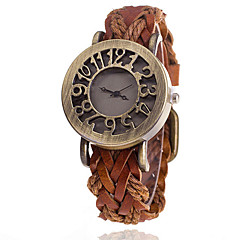 Woman's Braided Leather Hollow Retro Table Cool Watches Unique Watches