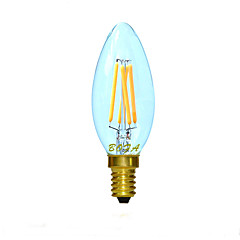 E12 E14 2200K-3000K 3W 4LED Dimmable Retro Imitation Tungsten Filament LED Candle Light