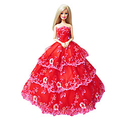 Princess Dresses For Barbie Doll Red Dresses For Girl's Doll Toy