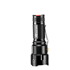 פנס LED LED 3 מצב 1200 Lumens מיקוד מתכוונן / עמיד למים / ניתן לטעינה מחדש / טקטי / חירום Cree XM-L T6 18650מחנאות/צעידות/טיולי מערות /