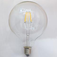 8W E26/E27 LED-glødetrådspærer G125 8 COB 750 lm Varm hvid Dekorativ Vandtæt Vekselstrøm 220-240 V 1 stk.